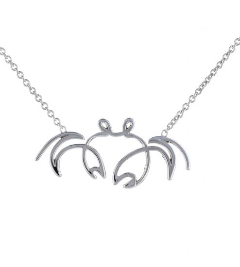 "Kristopher Mark ""SoSo Crabby"" Necklace in Sterling Silver"