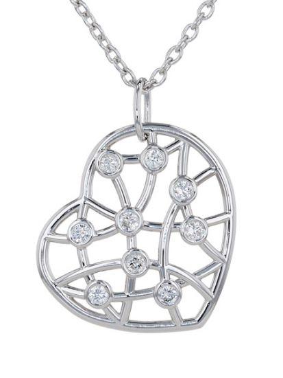 Kristopher Mark Diamond Lattice Heart Necklace