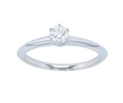 Platinum Tiffany & Co. Solitaire Diamond Engagement Ring