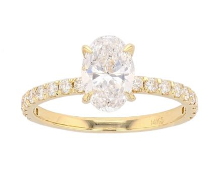 14K Yellow Gold French Set Semi-Mount Engagement Ring
