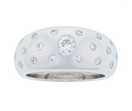 Kristopher Mark Burnished Diamond Dome Ring