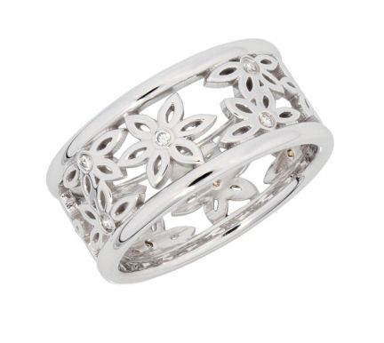 Kristopher Mark Diamond Flower Band