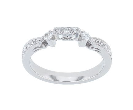 Platinum & Diamond Fitted Wedding Band