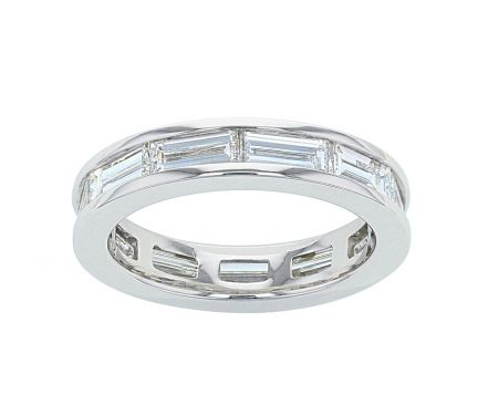 Kristopher Mark Platinum Diamond Baguette Channel Eternity Band