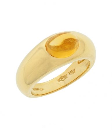 18k Yellow Gold Tiffany & Co. Citrine Cabochon Ring