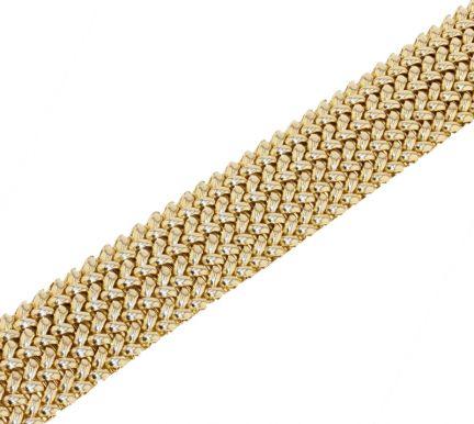 14k Yellow Gold Woven Mesh Link Bracelet
