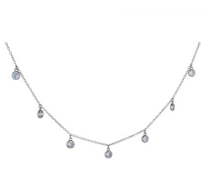 Sterling Silver White Cubic Zirconia Bezel Set