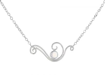 Spiral Moons Studio Moonstone Necklace in Sterling Silver
