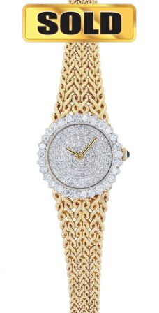 18K Yellow Gold & Diamond Lucien Piccard Ladies Watch
