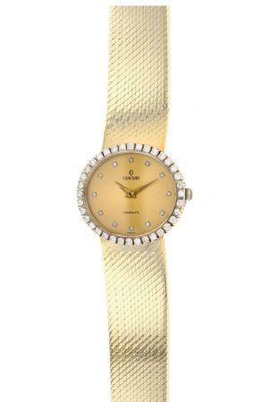 14K Yellow Gold & Diamond Concord Ladies Quartz Watch