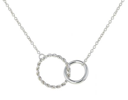 Kristopher Mark Sterling Silver Interlocking Circle Necklace