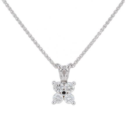 Kristopher Mark Quad Diamond Pendant