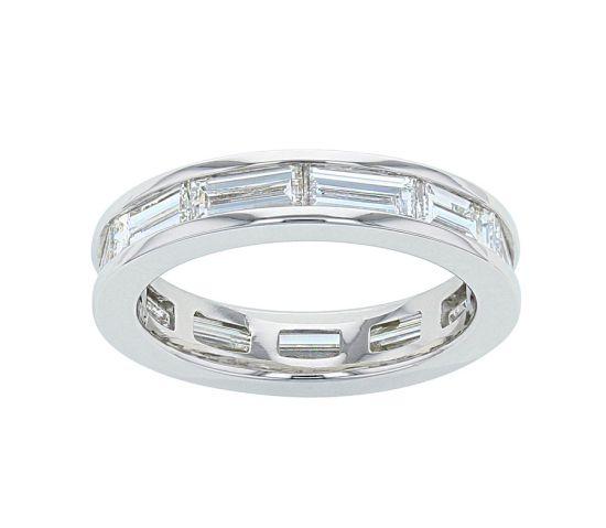 Kristopher Mark Platinum Diamond Baguette Channel Eternity Band