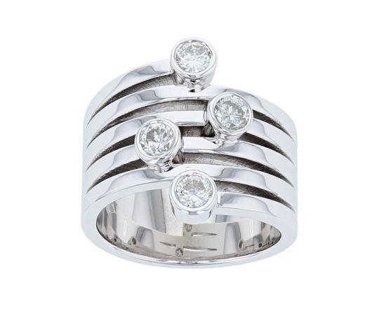"""Kristopher Mark """"The Kimberly"""" Right Hand Diamond Bezel Ring"""