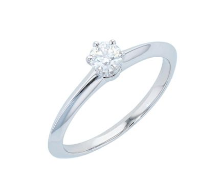 Platinum Tiffany & Co. Solitaire Diamond Engagement Ring