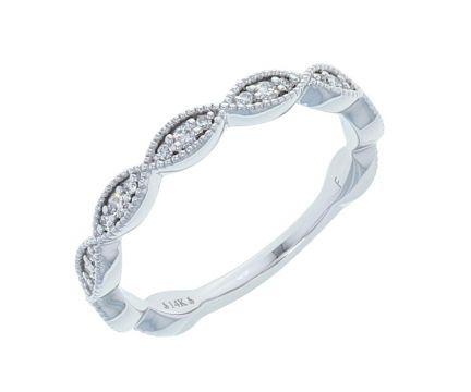 14K White Gold 1/5ctw Diamond Infinity Anniversary Band