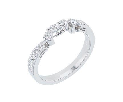 Platinum & Diamond Fitted Wedding Band