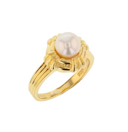 18k Yellow Gold Tiffany & Co. Pearl Ring