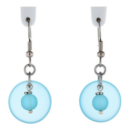 Palpitations Simple Drop Earrings With Turquoise Bay Blue Sea Glass