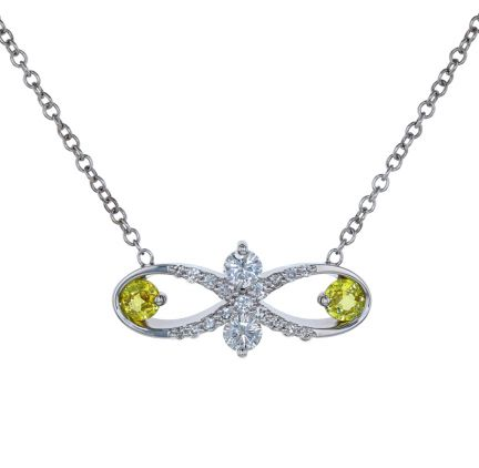 Kristopher Mark Yellow Sapphire & Diamond Infinity Necklace