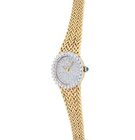 18K Yellow Gold & Diamond Lucien Piccard Ladies Watch