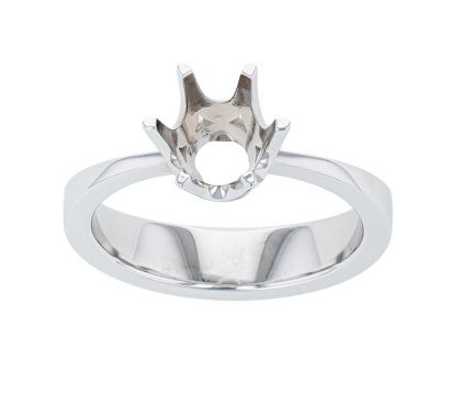 Kristopher Mark Six Prong Crown Pinch Shank Solitaire