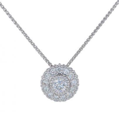 Kristopher Mark Diamond Milgrain Cluster Pendant