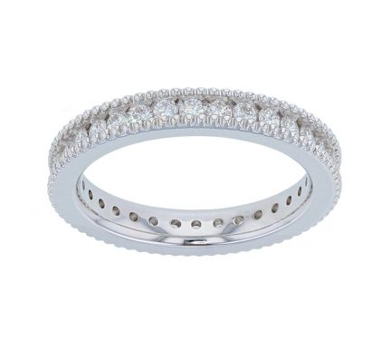 Kristopher Mark Milgrain Channel Diamond Eternity Band