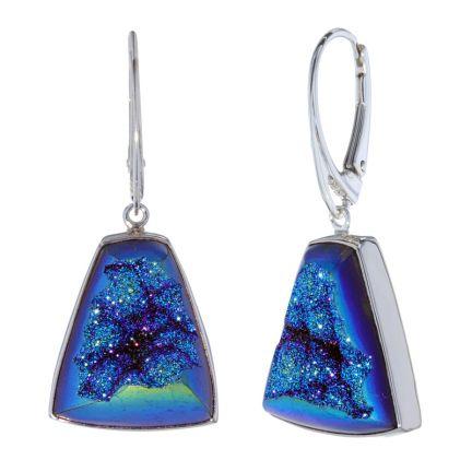 Kristopher Mark Custom Blue/Green Druzy Dangle Earrings