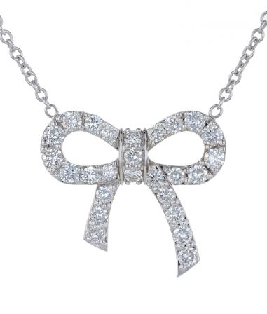 Kristopher Mark Diamond Bow Necklace
