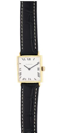 Tiffany & Co. 14K Yellow Gold Square Case Gents Watch