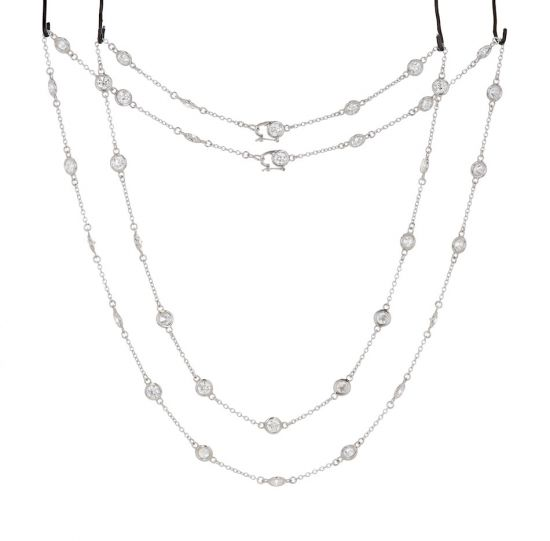"""Platinum """"Diamonds by the Yard"""" Necklace"""