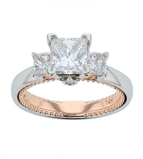"Kristopher Mark ""Michele"" Princess Diamond Semi-Mount Engagement Ring"