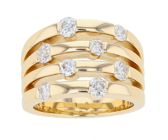 "Kristopher Mark ""The Dana"" Right Hand Diamond Bar-Set Ring"