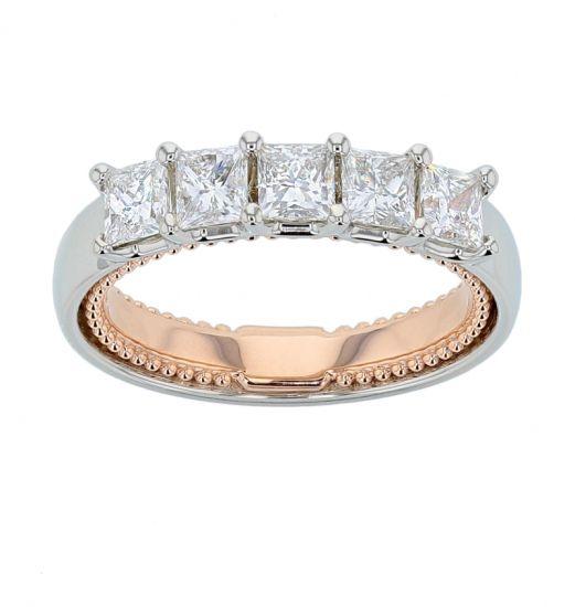 "Kristopher Mark ""Michele"" Princess Diamond Wedding Ring"