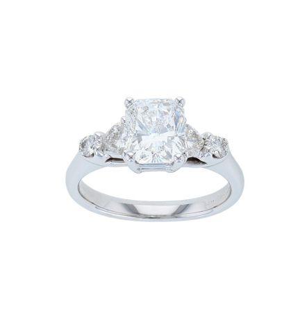14K White Gold Radiant Diamond Engagement Ring