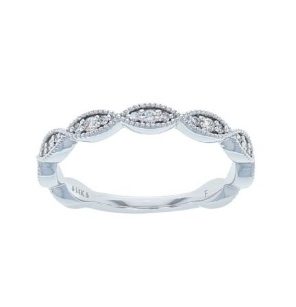 14K White Gold 1/5ctw Diamond Infinity Anniversary Band