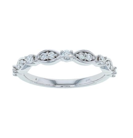 14K White Gold 1/3ctw Diamond Anniversary Band
