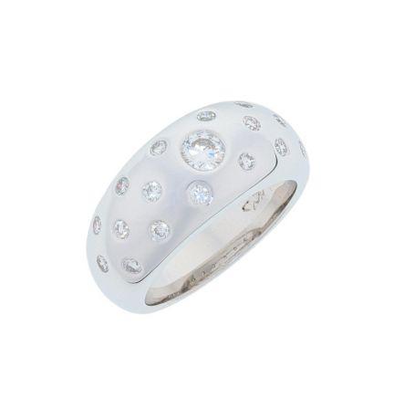 Kristopher Mark Burnished Diamond Dome Ring
