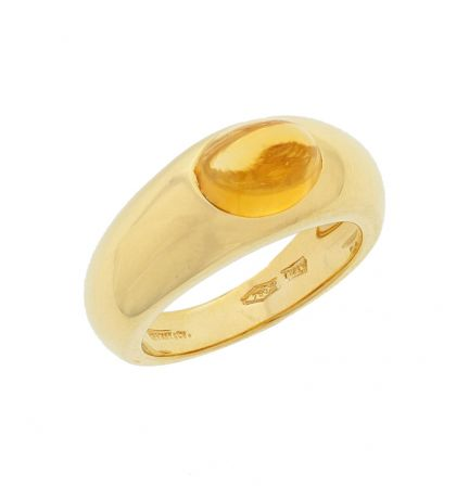 18k Yellow Gold Tiffany & Co. Citrine Cabochon Ring