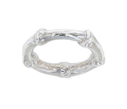 Tiffany & Co. Sterling Silver Bamboo Band