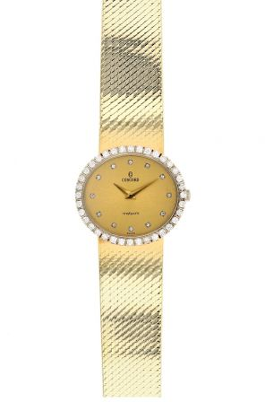 14K Yellow Gold & Diamond Concord Ladies Quartz Watch