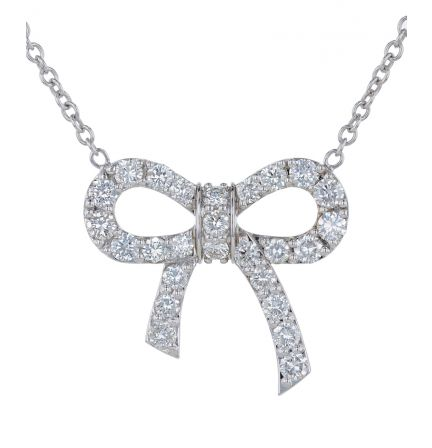 Kristopher Mark Diamond Bow Necklace