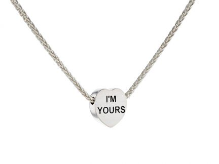 Sterling Silver Candy Heart Necklace