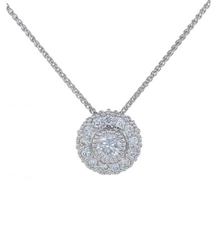 Kristopher Mark Diamond Milgrain Cluster Pendant